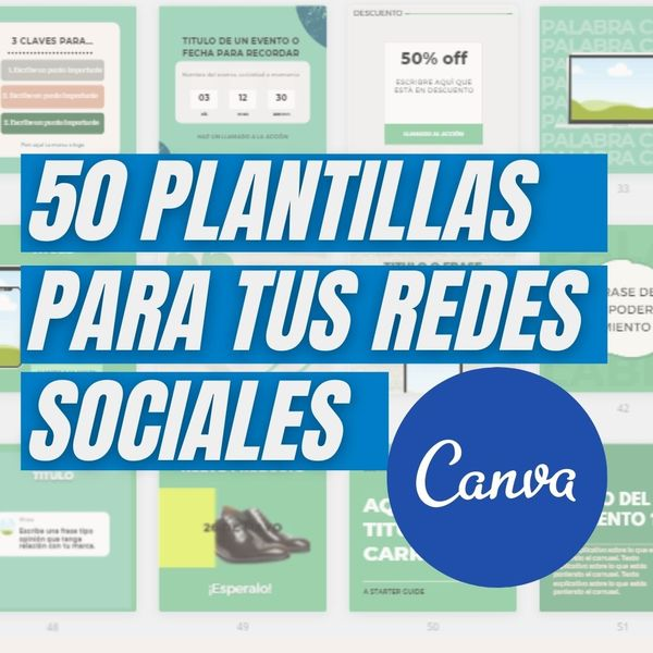 Imagem principal do produto 50 Plantillas de Canva para tus redes sociales