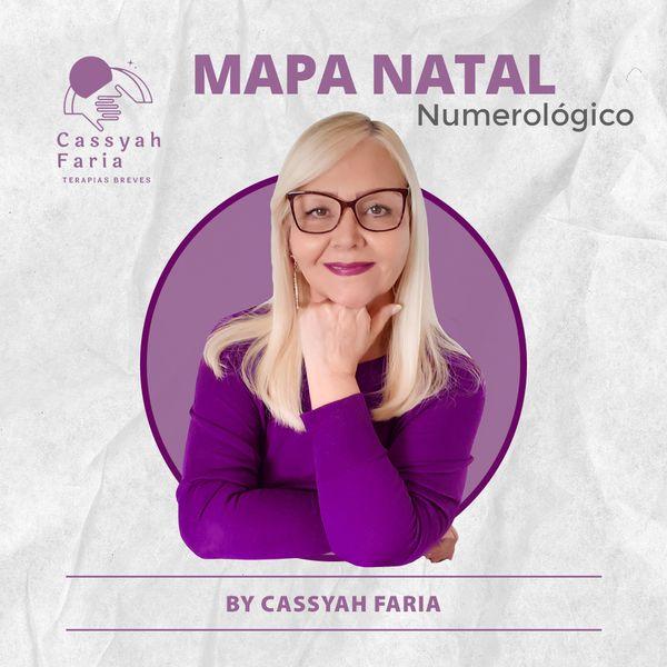 Imagem principal do produto Numerologia Pitagórica - Mapa Natal By Cassyah Faria