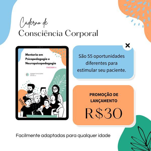 Imagem principal do produto Caderno de estimulação - Consciência corporal