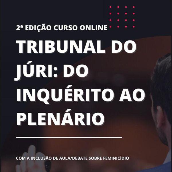 Imagem principal do produto AO VIVO Tribunal do Júri: do Inquérito Policial ao Plenário + Aula Feminicídio