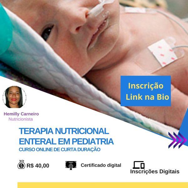 Imagem principal do produto Curso de Terapia Nutricional Enteral em Pediatria