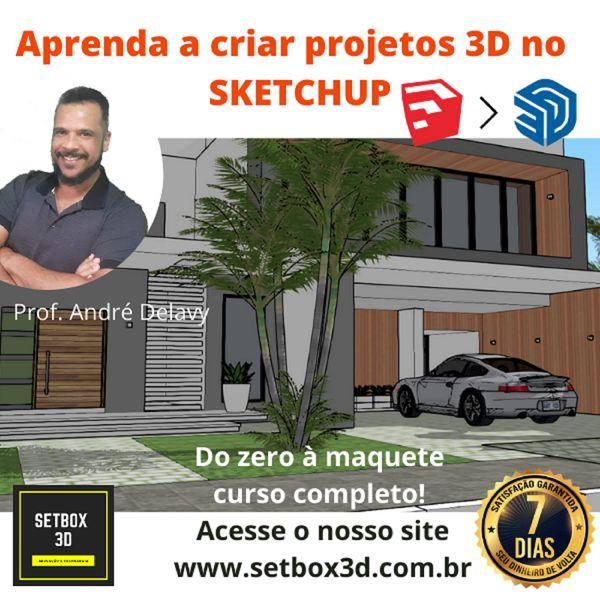 Imagem principal do produto CURSO DE SKETCHUP - FERRAMENTAS BÁSICAS - DO ZERO À MAQUETE