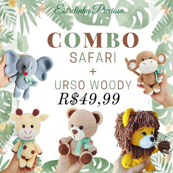 Imagem principal do produto Combo de  5 Receitas Urso Woody + Safari em PDF
