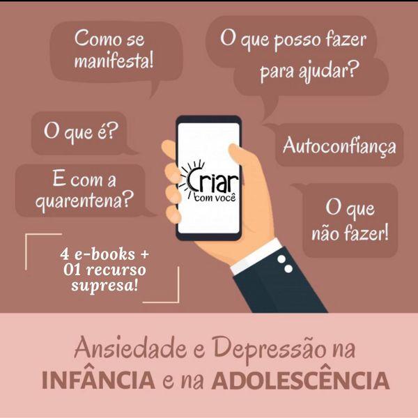 Imagem principal do produto ANSIEDADE E DEPRESSÃO NA INFÂNCIA E ADOLESCÊNCIA
