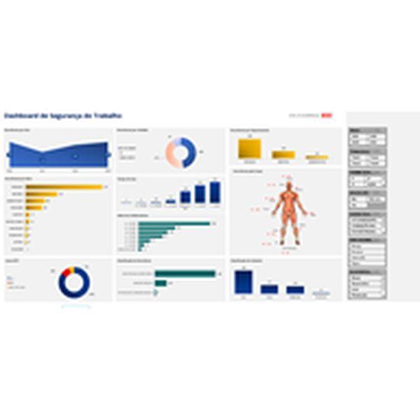 Imagem principal do produto Dashboard de Segurança do Trabalho em Excel