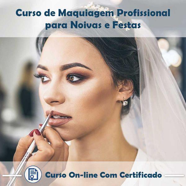 Imagem principal do produto Curso Maquiagem Profissional para Noivas e Festas