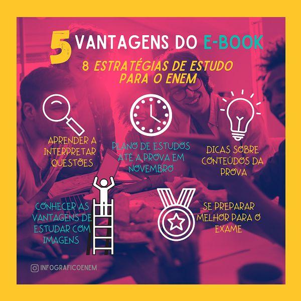 Imagem principal do produto 8 ESTRATÉGIAS TOP DE ESTUDO PARA O ENEM