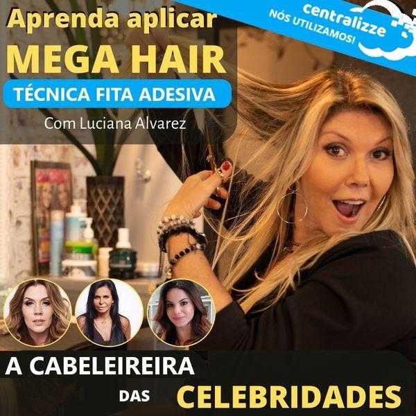 Imagem principal do produto CURSO CONFECÇÃO E APLICAÇÃO DE MEGA HAIR DE FITA ADESIVA, MICRO PELE E INVÍSIBLE