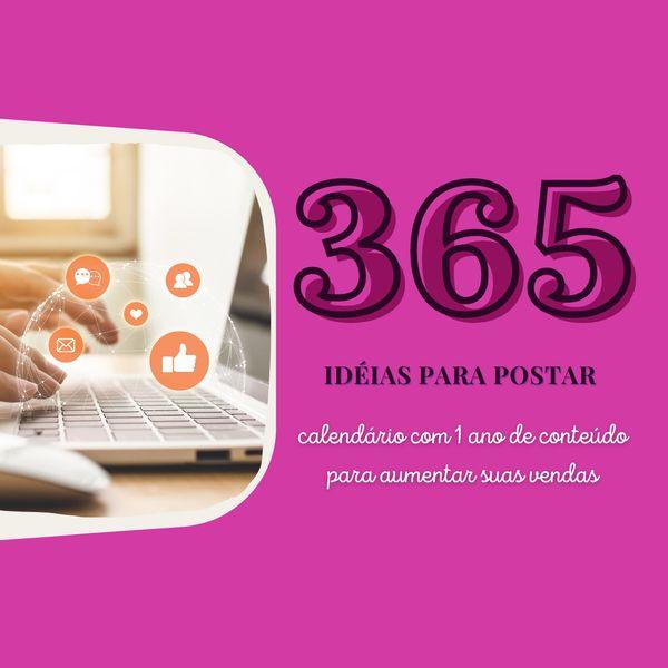 Imagem principal do produto 365 ideias para postar