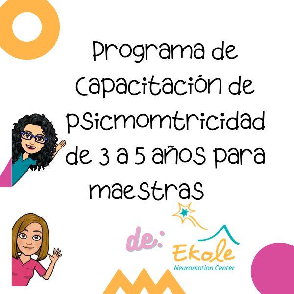 Imagem principal do produto Capacitación Psicomotricidad para mestras independientes