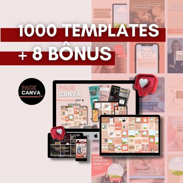 Imagem principal do produto Pack Canva Pro + | + de 1000 Templates Editáveis | + Pack Profissões + Capas para Igtv/reels + 8 Bônus | O MAIS COMPLETO DO MERCADO!!!