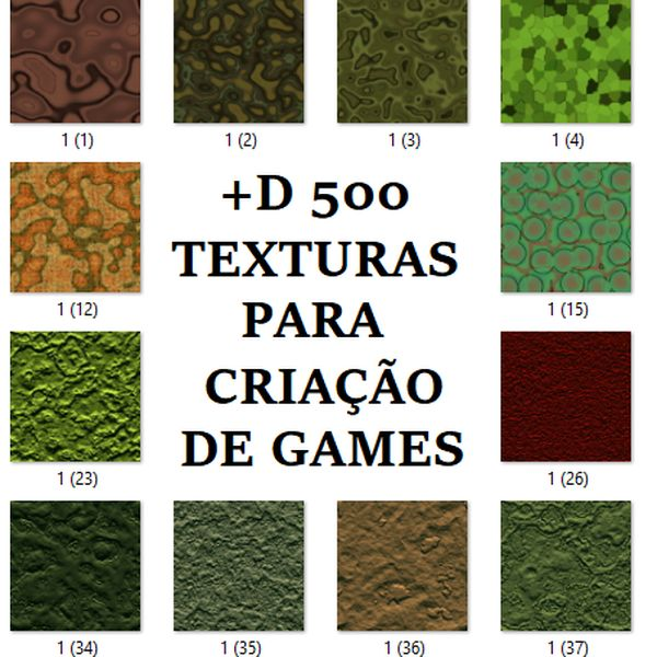 Imagem principal do produto +D500 Texturas para games ou animações