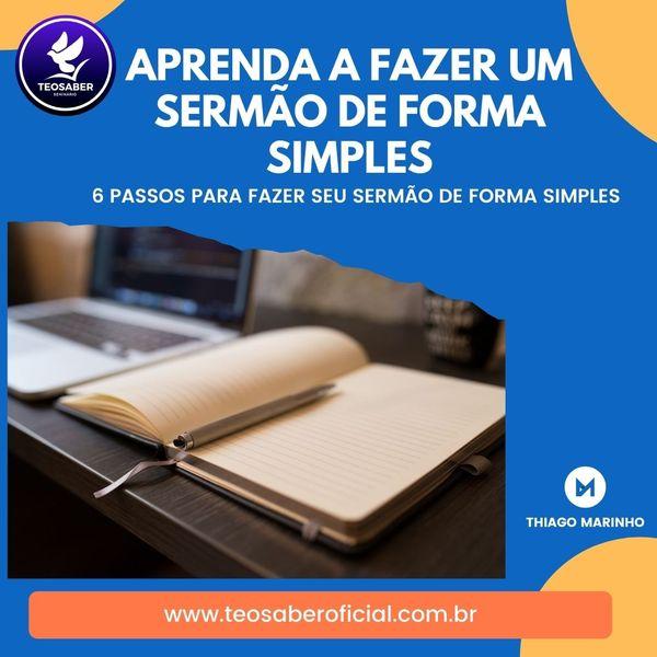 Imagem principal do produto Aprenda a Fazer Sermão de Forma Simples