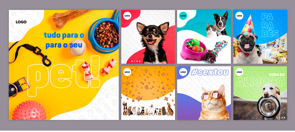 Pacote de Posts para PetShop