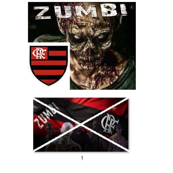 Imagem principal do produto Flamengo no estilo zumbi para estampar camisetas da catástrofe 1