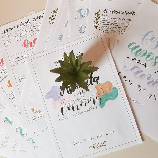 Imagem principal do produto Apostila de Lettering