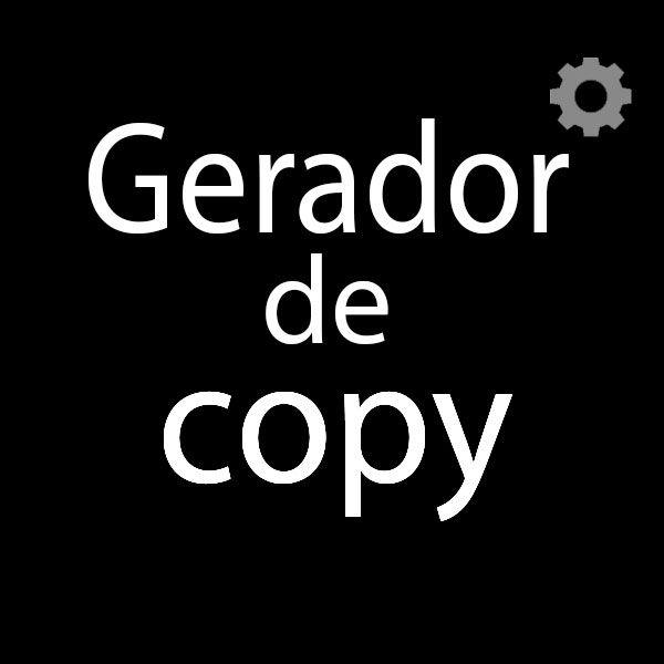 Imagem principal do produto GERADOR DE COPY's 587% mais Conversões!