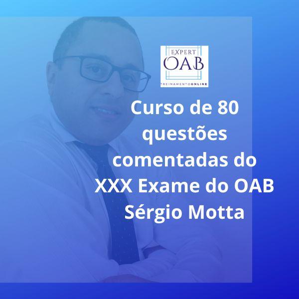 Imagem principal do produto Curso 80 questões comentadas do XXX Exame da OAB