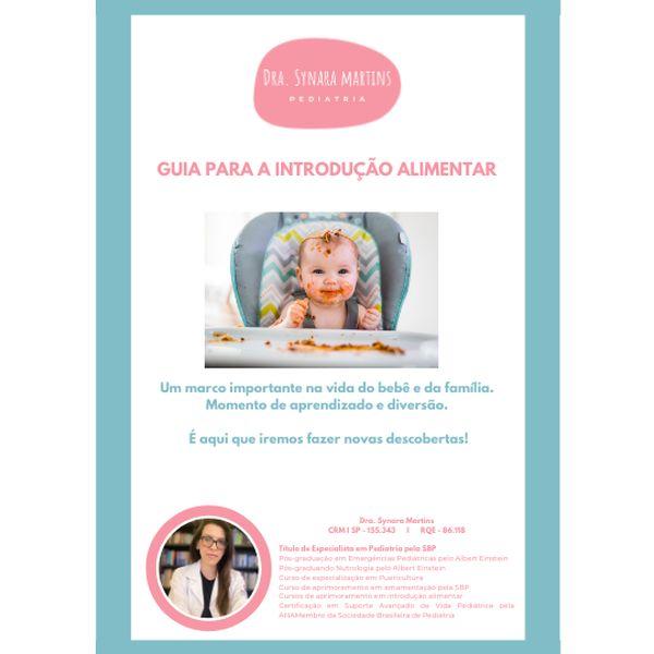 Imagem principal do produto GUIA PARA A INTRODUÇÃO ALIMENTAR - DRA. SYNARA MARTINS