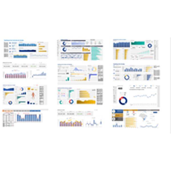 Imagem principal do produto Combo de Dashboards: Financeiro, Logística, Projetos, Resultados, RH, Segurança do Trabalho e Vendas