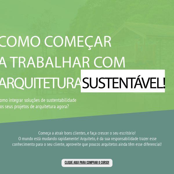 Imagem principal do produto Como começar a trabalhar com arquitetura sustentável