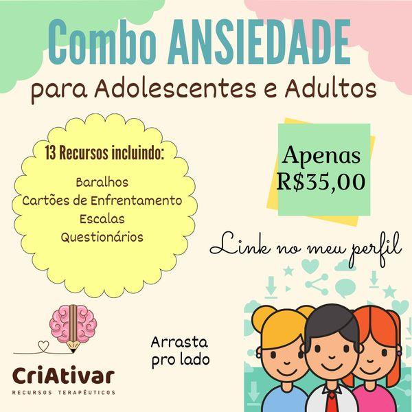 Imagem principal do produto Combo Ansiedade para Adolescentes e Adultos