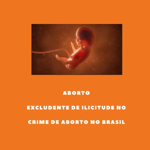Imagem principal do produto EXCLUDENTE DE ILICITUDE NO CRIME DE ABORTO NO BRASIL