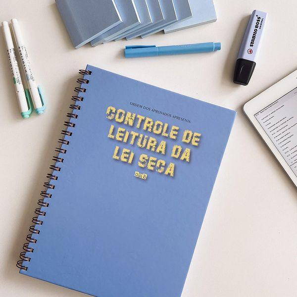 Imagem principal do produto CONTROLE DE LEITURA DA LEI SECA PARA OAB