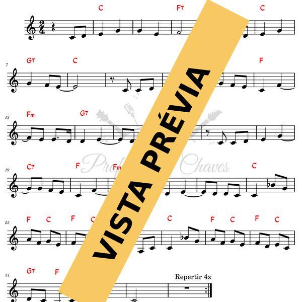 Imagem principal do produto 🎼 Asa branca - Luiz Gonzaga - 2920 - Tutorial Partitura e Teclado Fácil