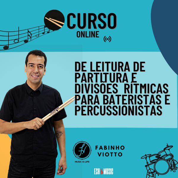 Imagem principal do produto Curso de Leitura de Partitura e Divisões Rítmicas Para Bateristas e Percussionistas