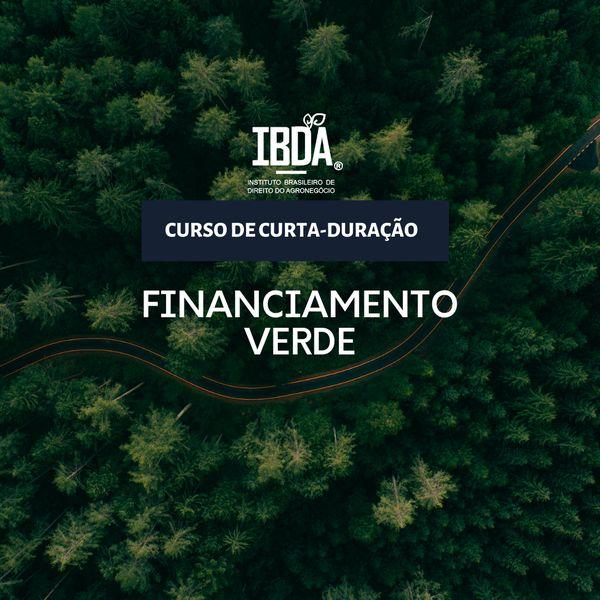 Imagem principal do produto Financiamento Verde