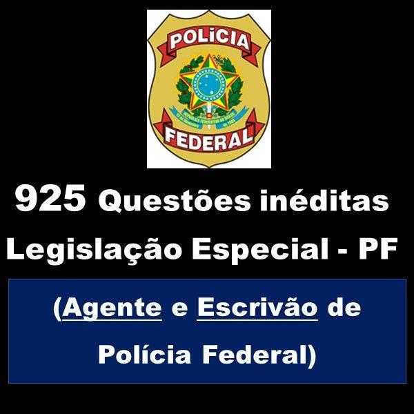 Imagem principal do produto 925 questões inéditas para Agente e Escrivão da Polícia Federal