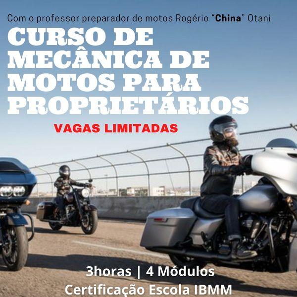 Imagem principal do produto Curso de mecânica de motos para proprietário