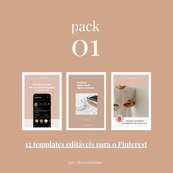 Imagem principal do produto Pack Templates Pinterest