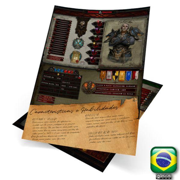 Imagem principal do produto Ficha Alternativa Personalizável - Dungeons & Dragons 5e