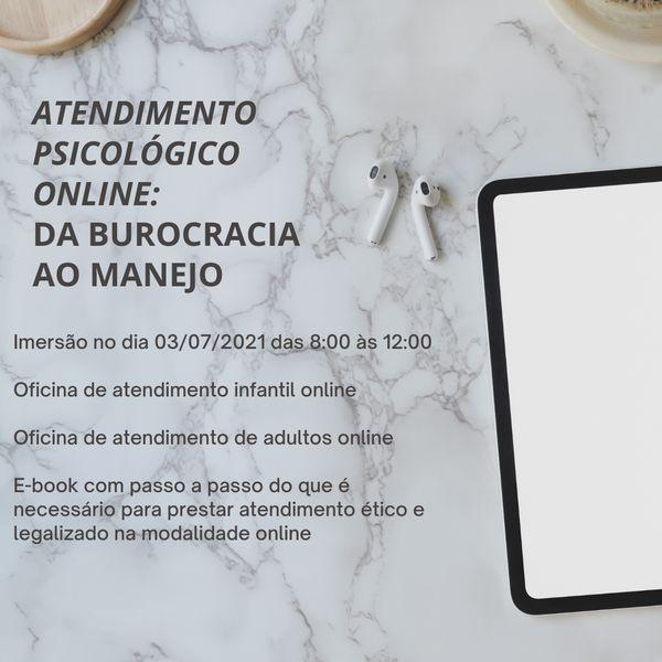 Imagem principal do produto ATENDIMENTO PSICOLÓGICO ONLINE: da burocracia ao manejo