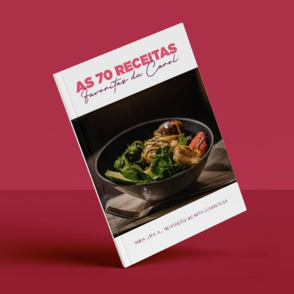 Imagem principal do produto E-book com 70 Receitas da Carol Ferrera