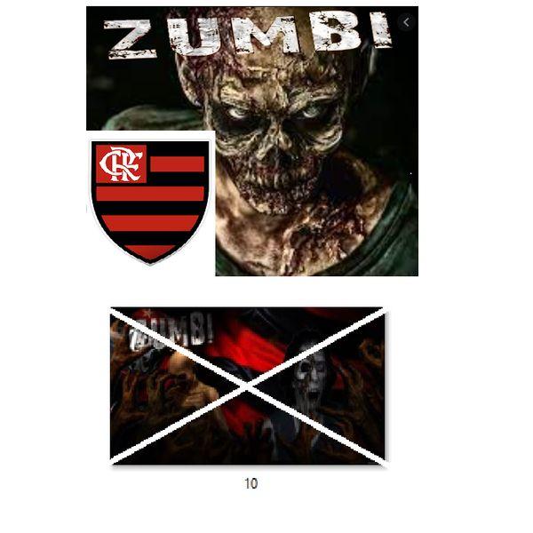 Imagem principal do produto Flamengo no estilo zumbi para estampar camisetas da catástrofe 10