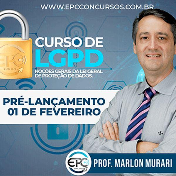 Imagem principal do produto CURSO DE LGPD - NOÇÕES GERAIS