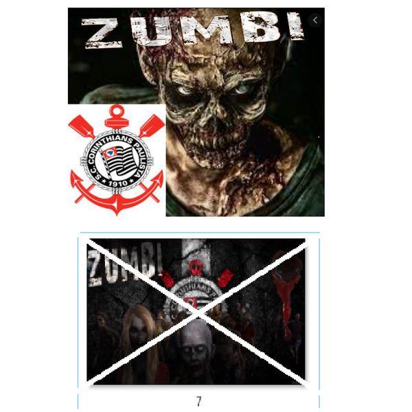 Imagem principal do produto Corinthians zumbi foto para estampar camisetas 7