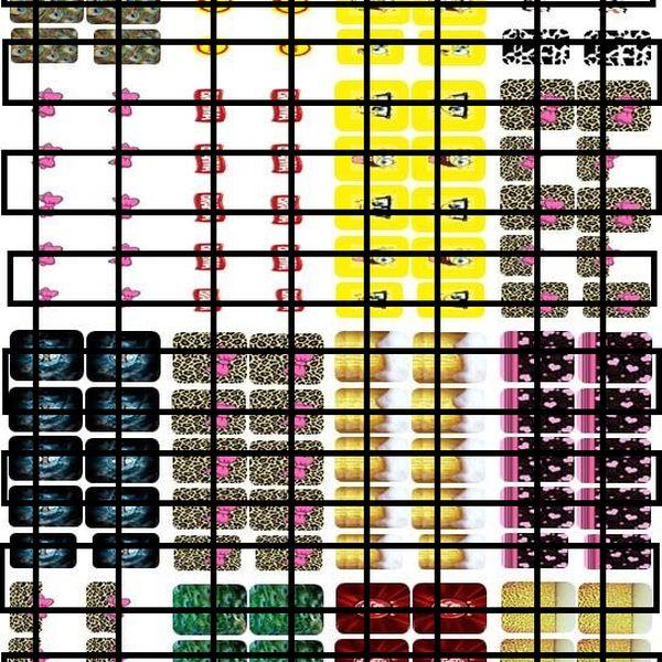 Imagem principal do produto ADESIVOS DE UNHAS - CARTELA MOLDE PARA IMPRIMIR - CARTELA 31