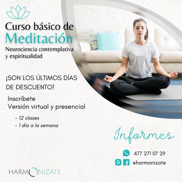 Imagem principal do produto Curso básico de Meditación 2021