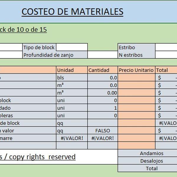 Imagem principal do produto Calculadora de costos y materiales de construcción