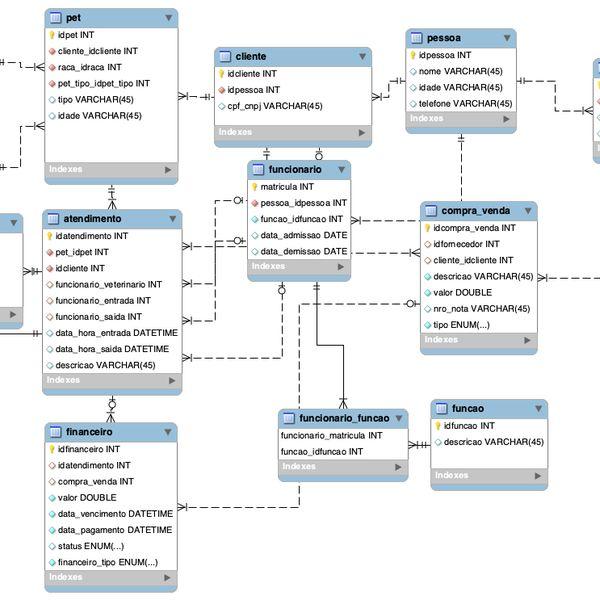 Imagem principal do produto MYSQL - MER para PetShop.