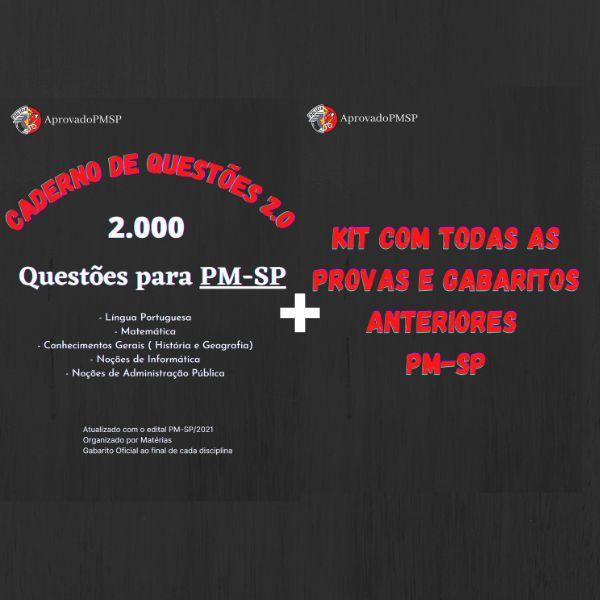 Imagem principal do produto Caderno de Questões 2.0 PM-SP + PDFs com Dicas e Macetes da Banca