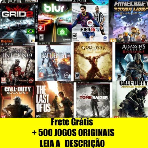 Imagem principal do produto + DE 500 JOGOS ORIGINAIS NO SEU PS3 AGORA