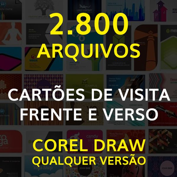Imagem principal do produto 2.800 ARQUIVOS - CARTÕES DE VISITA FRENTE E VERSO COREL DRAW QUALQUER VERSÃO