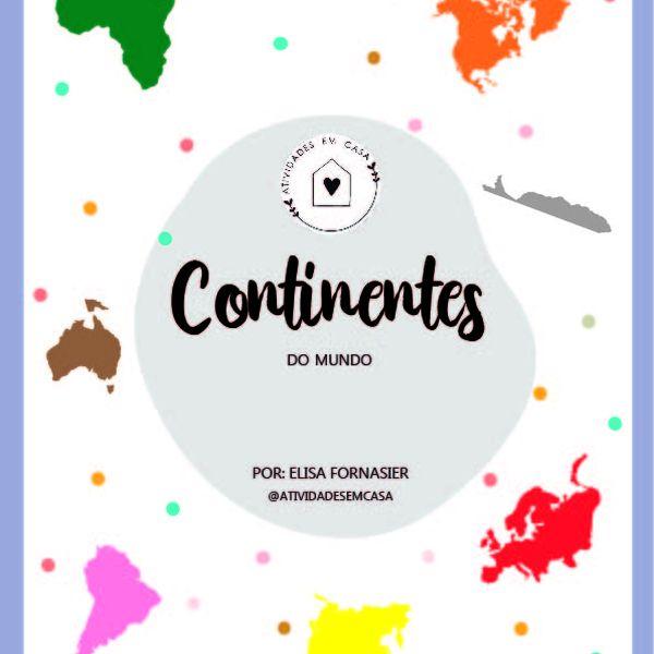 Imagem principal do produto Continentes do Mundo - letra Bastão