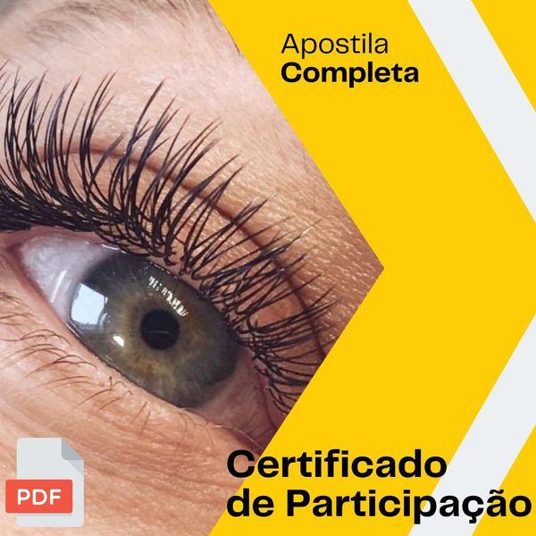 Imagem principal do produto Apostila Extensão de Cílios