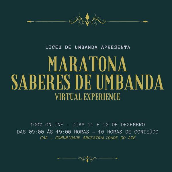Imagem principal do produto Maratona Saberes de Umbanda